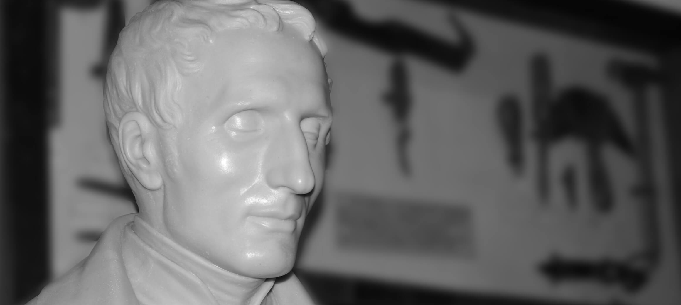 Eine Büste von Louis Braille